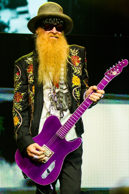 ZZ Top at Riverbend Music Center (Billy Gibbons)